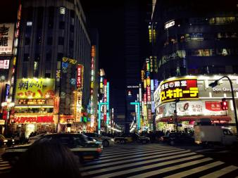 One of the busiest St. in the world- Shinjuku