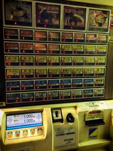 Vending Machine at Noodle Shops in Japan
